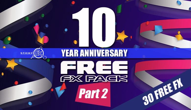 10 Year Anniversary Free Pack 2